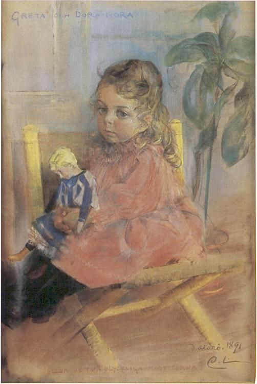 Greta And Dora Nora Carl Larsson