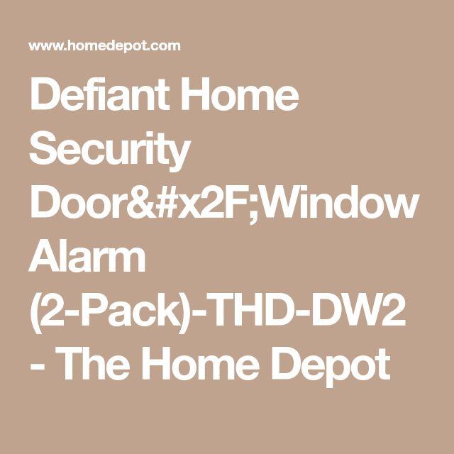Defiant Home Security Door/Window Alarm (2-Pack)-THD-DW2 - The Home Depot