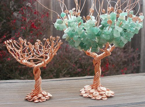 I could do this!: Standing Wire, Bead Trees, Tree Chalice, Candle Holders, Candles, Wire Trees, Chalice Candle, Photo, Beaded Trees