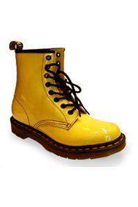 Dr. Martens - 8 eye - Sun yellow patent