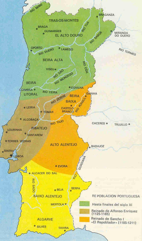 reconquista y repoblacin de portugal hasta el siglo xii