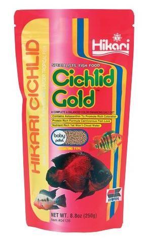 Hikari Fish Food Cichlid Gold Baby Pellets 8.8 oz