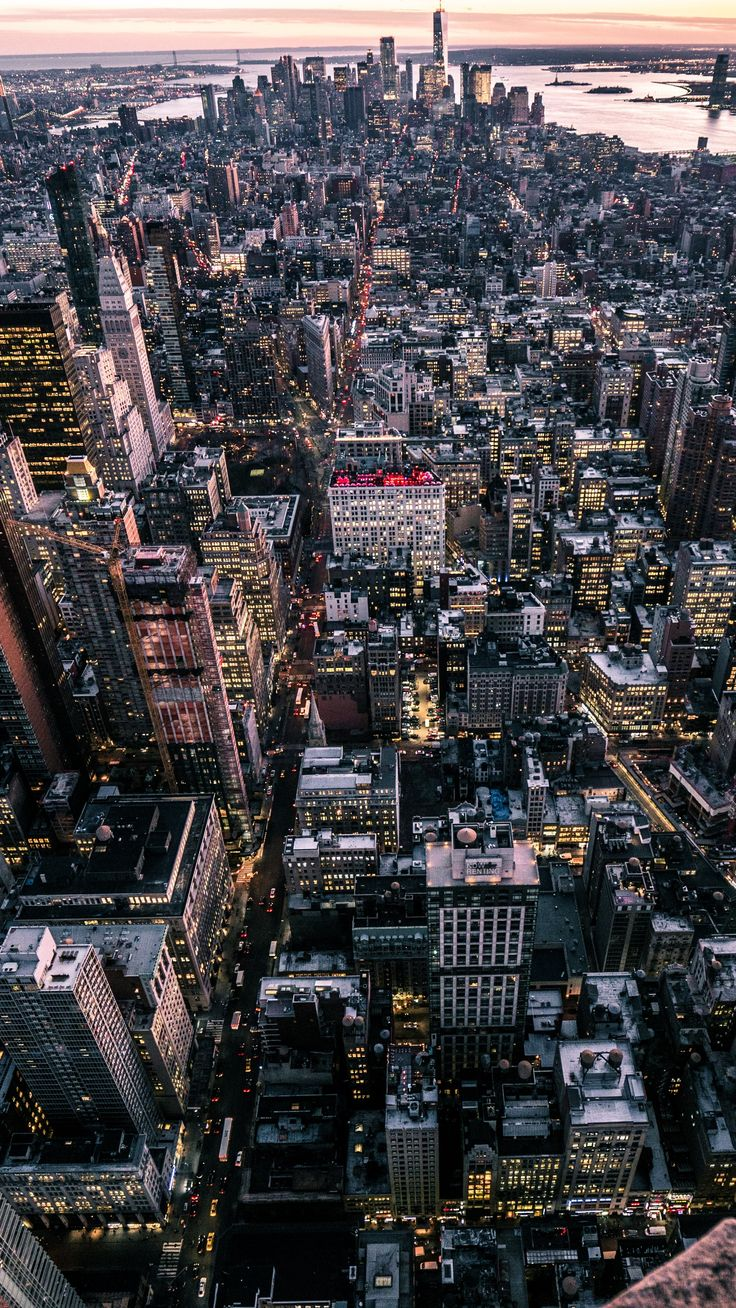 #Places new york, usa, city, top view #android #wallpapers #4k #hd