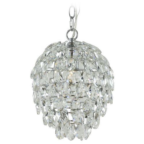 Contemporary Crystal Chandelier Pendant Light in Chrome | 2247 | Destination Lighting