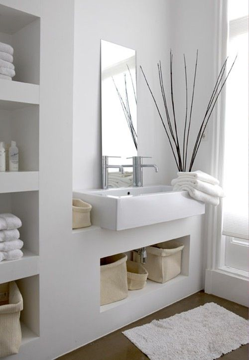 IKEA STYLING . Netherlands | All White Terrace home . Bathroom Interior
