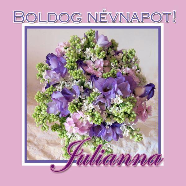 Boldog névnapot, Julianna!
