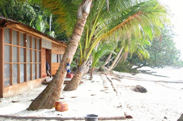 #Tropical #beach bungalow in Sumatra.