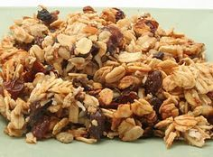 The best granola ever.  And there's no sugar!  (P.S. I use dried dates instead of dried plums/prunes.)