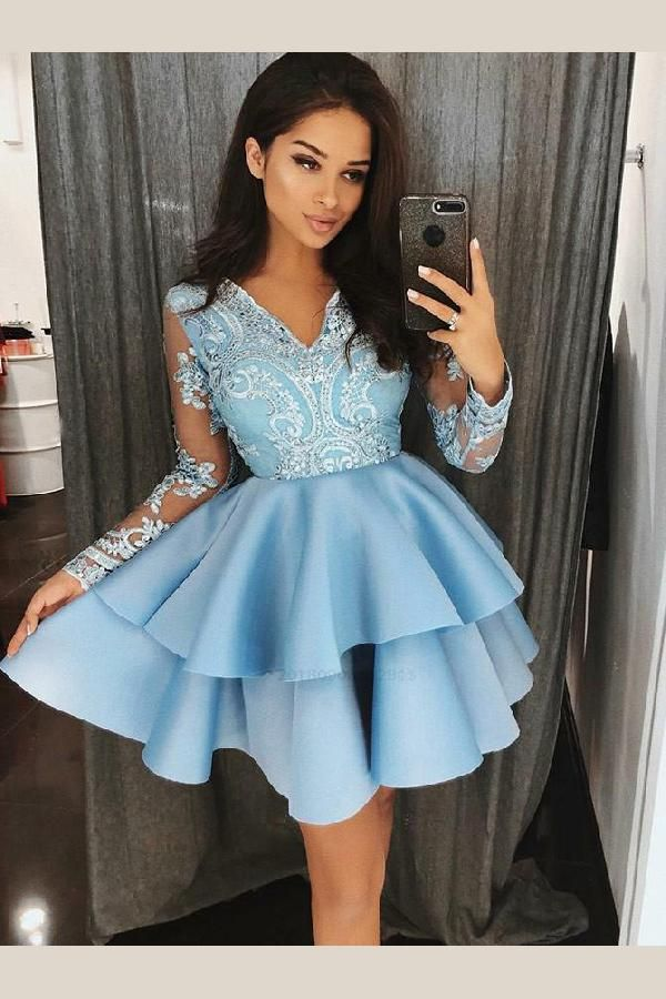 3e61b487f8 Discount Fancy Homecoming Dress With Appliques
