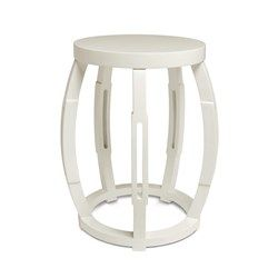 'Taboret Stool/Side Table, White
