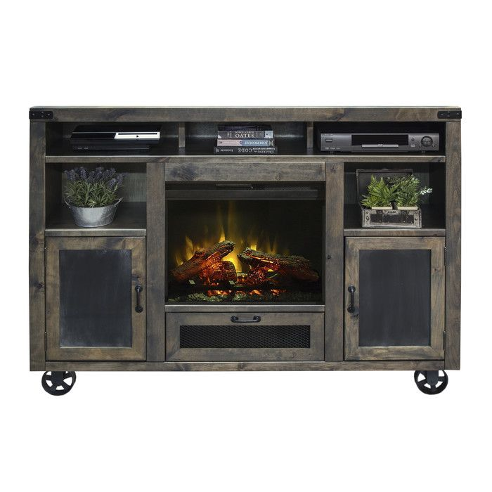 Laurel Foundry Modern Farmhouse Narbonne TV Stand with Electric Fireplace & Reviews | Wayfair