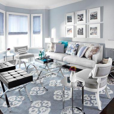39 best living room designs images on pinterest for Sky blue living room ideas