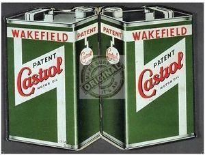 a castrol motor lata de aceite vintage wakefield un coche clasico metal pequena