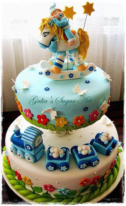 Cake with baby - by Galia Hristova @ CakesDecor.com - cake decorating website