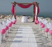 A Typical Set Up For Beach Wedding In Florida Weddings Are Big Business The Ocean And Itself Main Atractions While