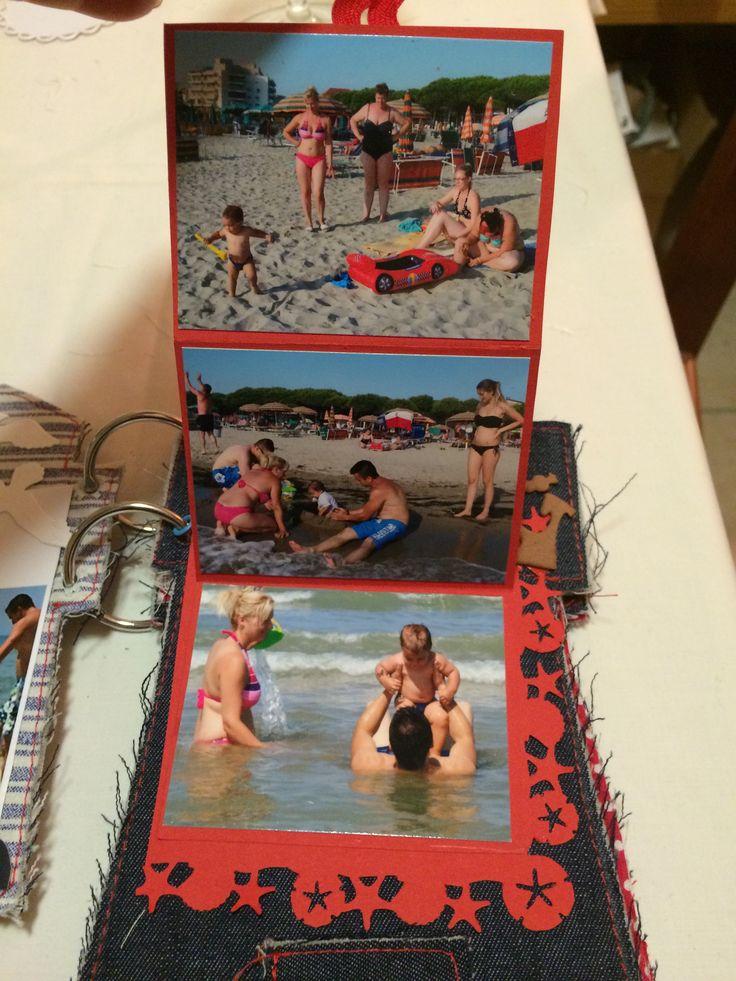 a képeknek piros kartonból csináltam leporellót, a piros farkasfog füllel lehet nyitni