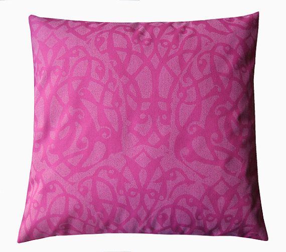 The patterns on the pillows were laser cut / by halletextiledesign