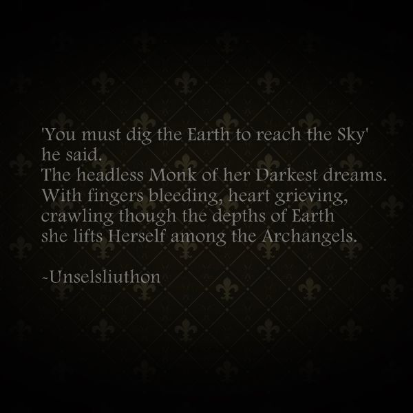Gothic/ Medieval Poetry by A. Unselsliuthon.
