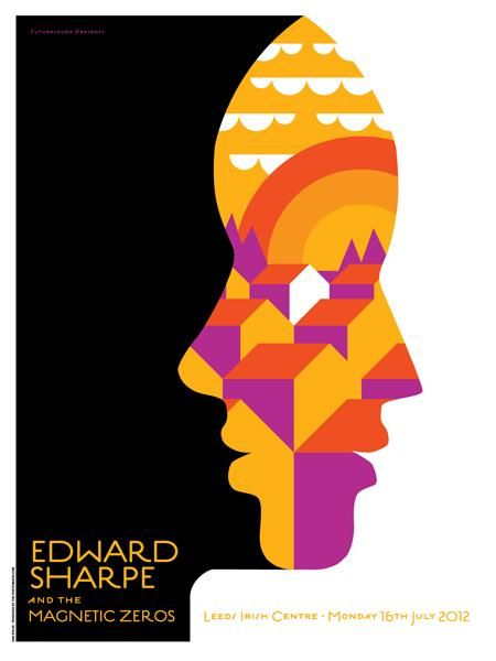 Edward Sharpe and the Magnetic Zeros Top 40 Concert Posters of all times