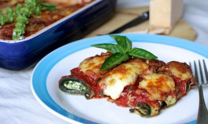 Ricotta and spinach zuc-cannelloni - Kidspot