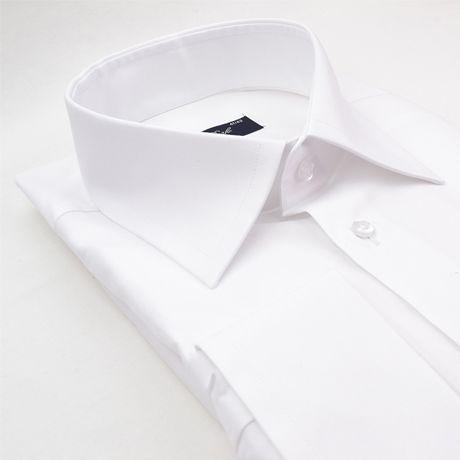 Chemise blanche coupe droite poignet mousquetaire Cotton Park - Kadice