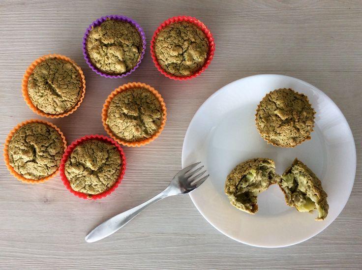 Muffiny z vajec, ovesné mouky a brokolice
