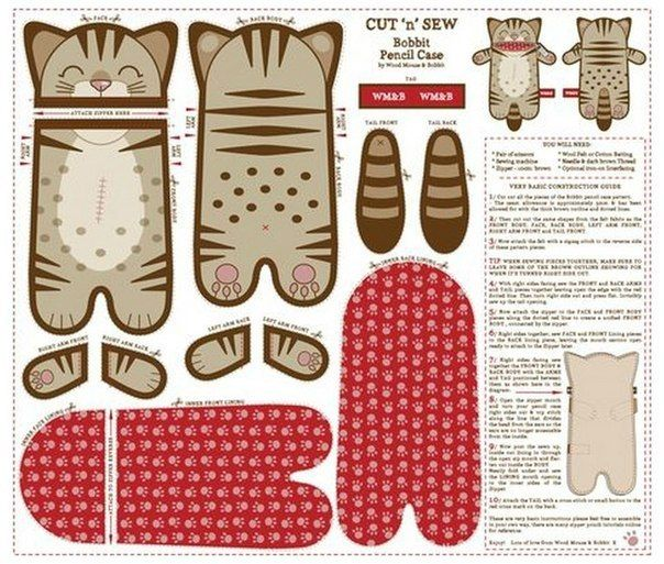Materiales gráficos Gaby: Cartuchera escolar porta lápices esquema de costura