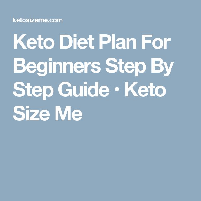 Keto Diet Plan For Beginners Step By Step Guide • Keto Size Me