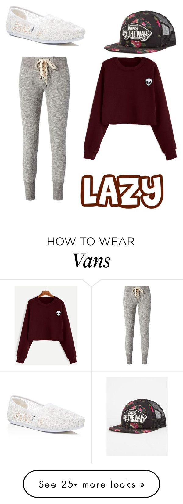 """Untitled #692"" by cutesetsandmore on Polyvore featuring TOMS, Vans and NSF"