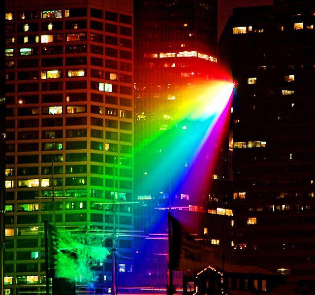 Rainbow At Night