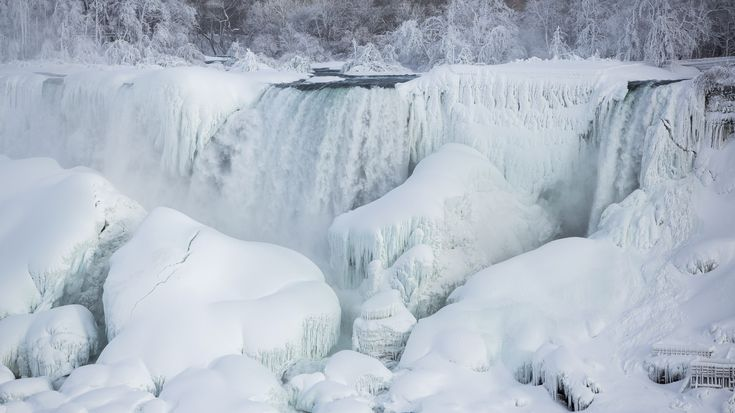 Niagara Falls Never Freezes Over | Pictured: A partially frozen American Falls in sub freezing temperatures is seen in Niagara Falls, Ontario February 17, 2015. Temperature dropped to 6 degrees Fahrenheit (-14 Celsius) on Tuesday. The National Weather Service has issued Wind Chill Warning in Western New York from midnight Wednesday to Friday.