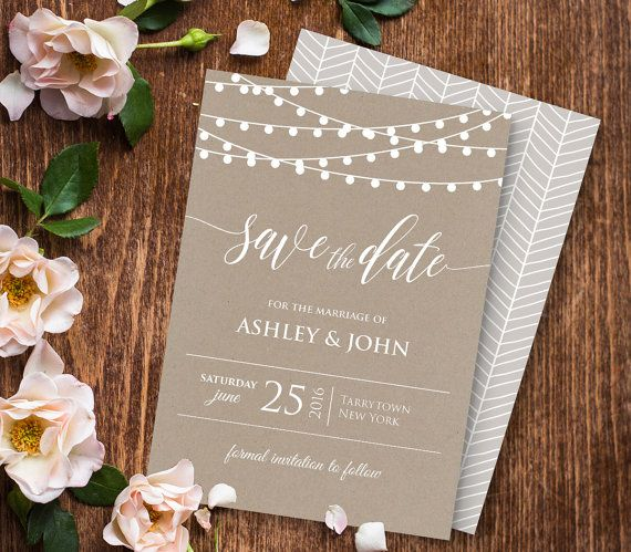 Wedding Save the Date Template Instant von MintyPaperieShop auf Etsy