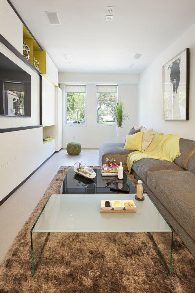 Naturfarben Sofa Shaggy Teppich Grasgrün