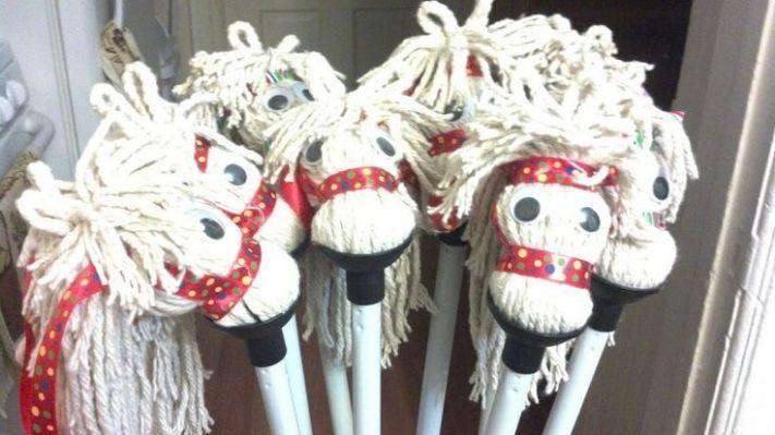 ... for 1 dollar | DIY stick horses