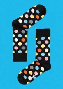 """Happy Socks """"Big Dot"""" $12. I'm looking for some new colorful socks (though I love my super-cheap Uniqlos). Wish they offered crew-length socks..."""