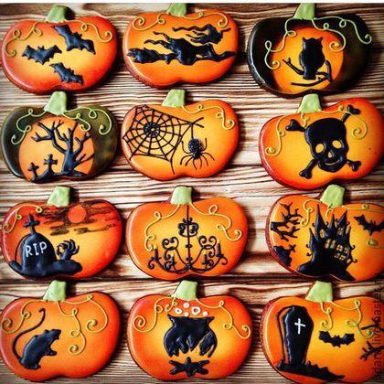 Купить или заказать Тыква фантазийная halloween. Имбирное печенье в интернет-магазине на Ярмарке Мастеров. Имбирное пряничное печенье - необыкновенное и очень вкусное - качество теста самое высокое - читайте о нем в Профиле. Цена указана за 1 пряник про Хэллоуин (англ. Halloween, All Hallows' Eve или All Saints' Eve) — праздник, имеющий корни в традициях древних кельтов, в Ирландии и Шотландии, история которого началась на землях современной Великобритании и северной Франции...