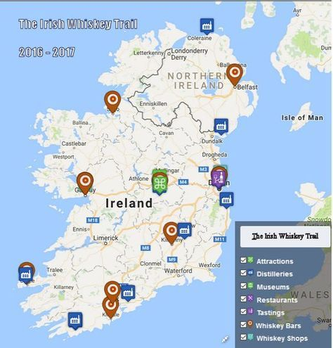 The Irish Whiskey Trail is a guide to the best Whiskey tourism venues and events in Ireland. Winners are announced each year on Irish Whiskey Day 3rd March.