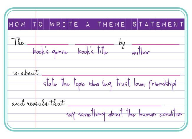 How to write a theme based essay