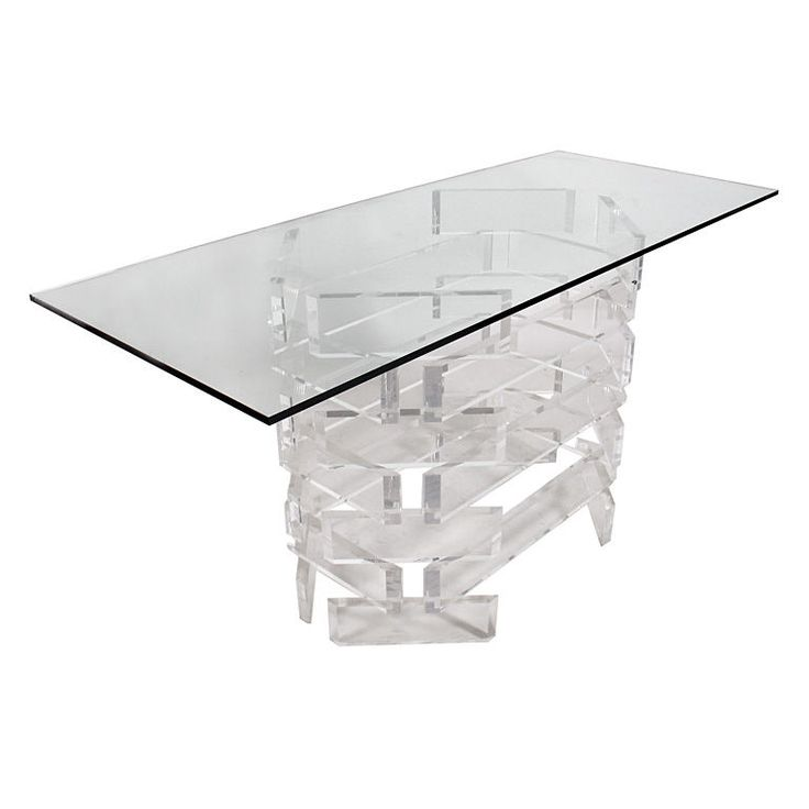 Sculptural Lucite Console Or Dining Table Base