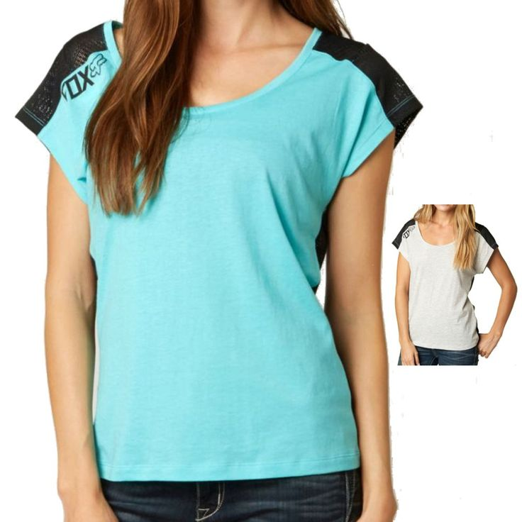 Fox Racing Wildstorm Women's Ladies Casual Short Sleeve Shirt Tee Top