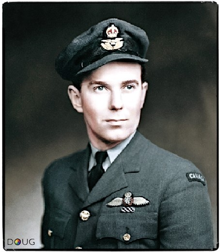 Flight Lieutenant Charles William Fox, RCAF 412 Squadron. He was credited with seriously injuring the German Field Marshall Erwin Rommel when he straffed a staff car during a patrol over Normandy on July 17th 1944.