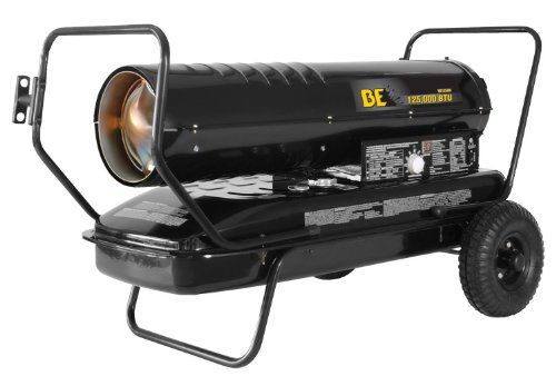 BE Pressure HK125FW 125000 BTU Kerosene/Diesel Forced Air Heater, 120V
