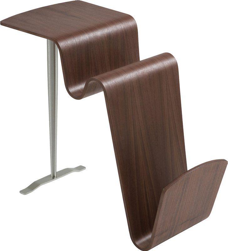 Bord - stort utvalg til din stueFuncobordValnøttfinér og børstet metall