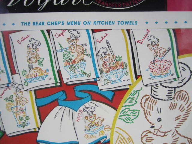 See Sally Sew-Patterns For Less - Bear Chef Designs Vogart Hot Iron Transfer 645 Embroidery Cross Stitch Designs, $5.99 (http://stores.seesallysew.com/bear-chef-designs-vogart-hot-iron-transfer-645-embroidery-cross-stitch-designs/)