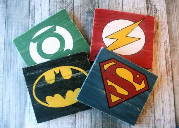 Superhero signs batman green lantern flash by AnchorandCompany