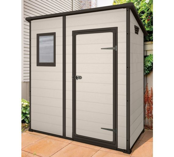 Buy Keter Designer Pent Plastic Garden Shed - 6 x 4ft at Argos.co.uk - Your Online Shop for Sheds, Sheds and bases, Conservatories, sheds and greenhouses, Home and garden.