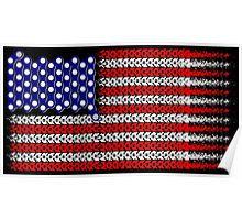 Bike USA Flag Posters