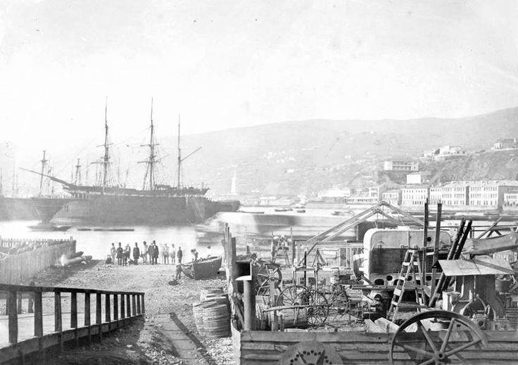 Puerto de Valparaíso en el año 1865