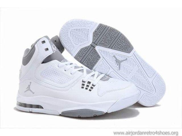 Latest Jordan Shoes   Cheap 2012 New Air Jordan Shoes White/Gray For Sale