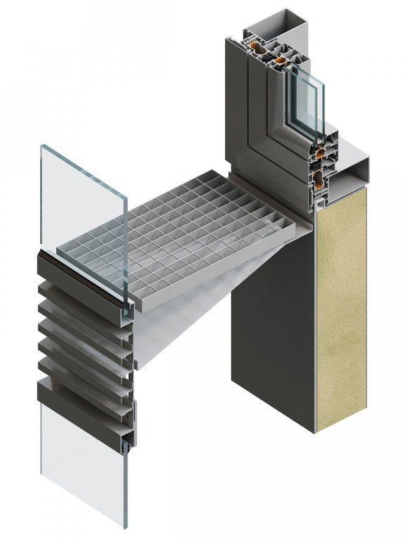 The corridor-type ventilated double skin facade ...